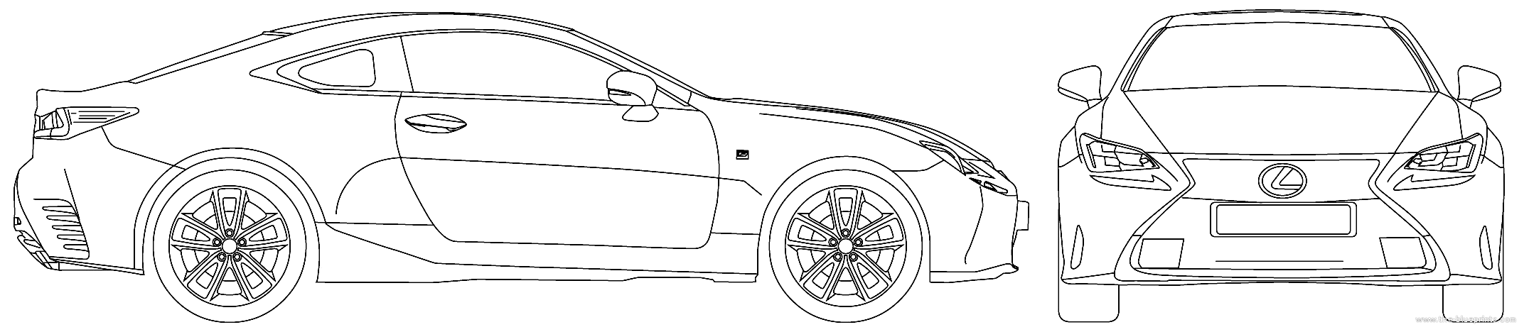 Blueprints cars lexus lexus rc 300 300h f sport 2016 lexus rc 300 300h f sport 2016 malvernweather Image collections