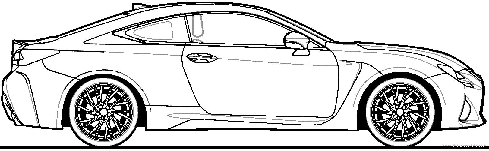 Blueprints cars lexus lexus rc f 2015 lexus rc f 2015 malvernweather Choice Image