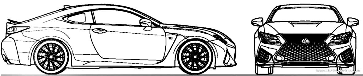Blueprints cars lexus lexus rc f 2015 lexus rc f 2015 malvernweather Image collections