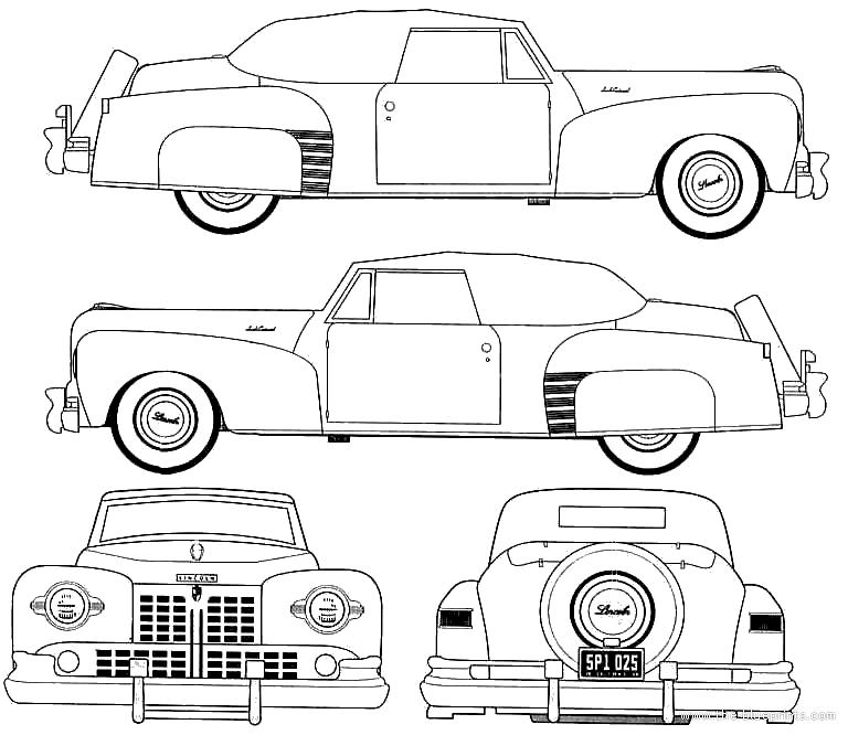 blueprints  u0026gt  cars  u0026gt  lincoln  u0026gt  lincoln continental convertible  1948