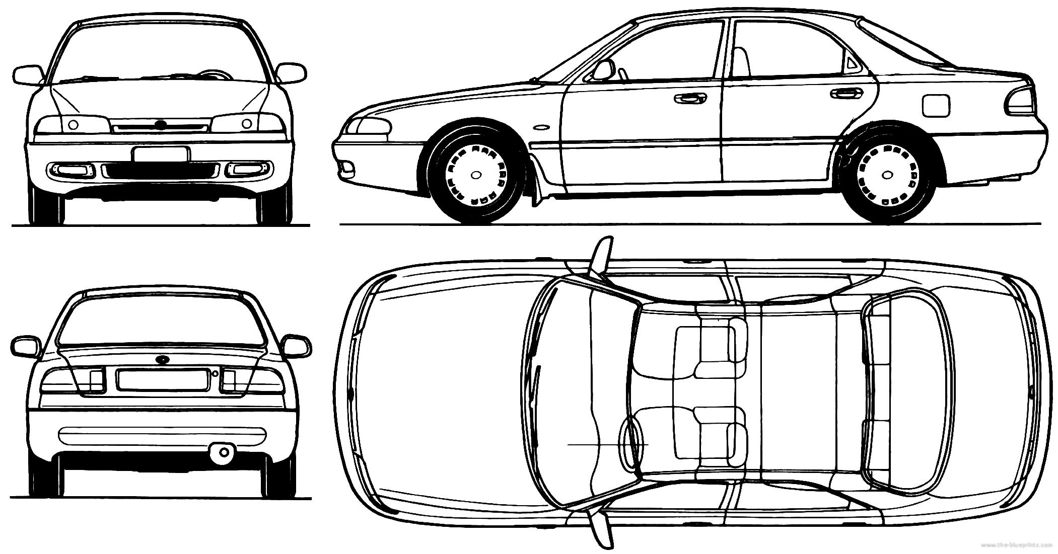 чертежи колец mazda 626