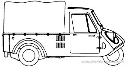 Blueprints Cars Mazda Mazda K360 Mazdago 1958