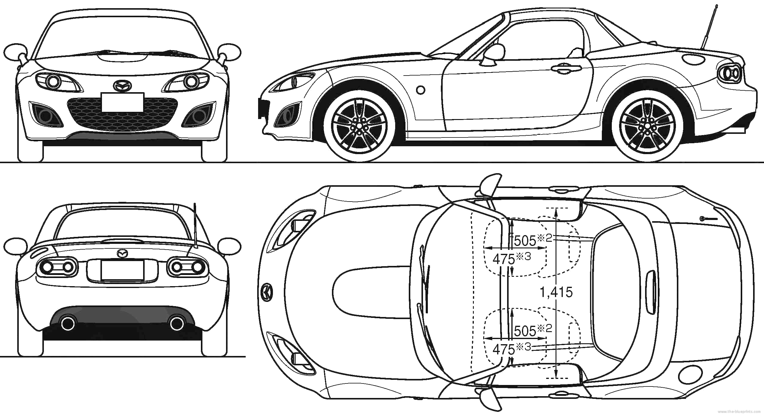 Beautiful Sports Car Blueprints Gallery - The Best Electrical ...