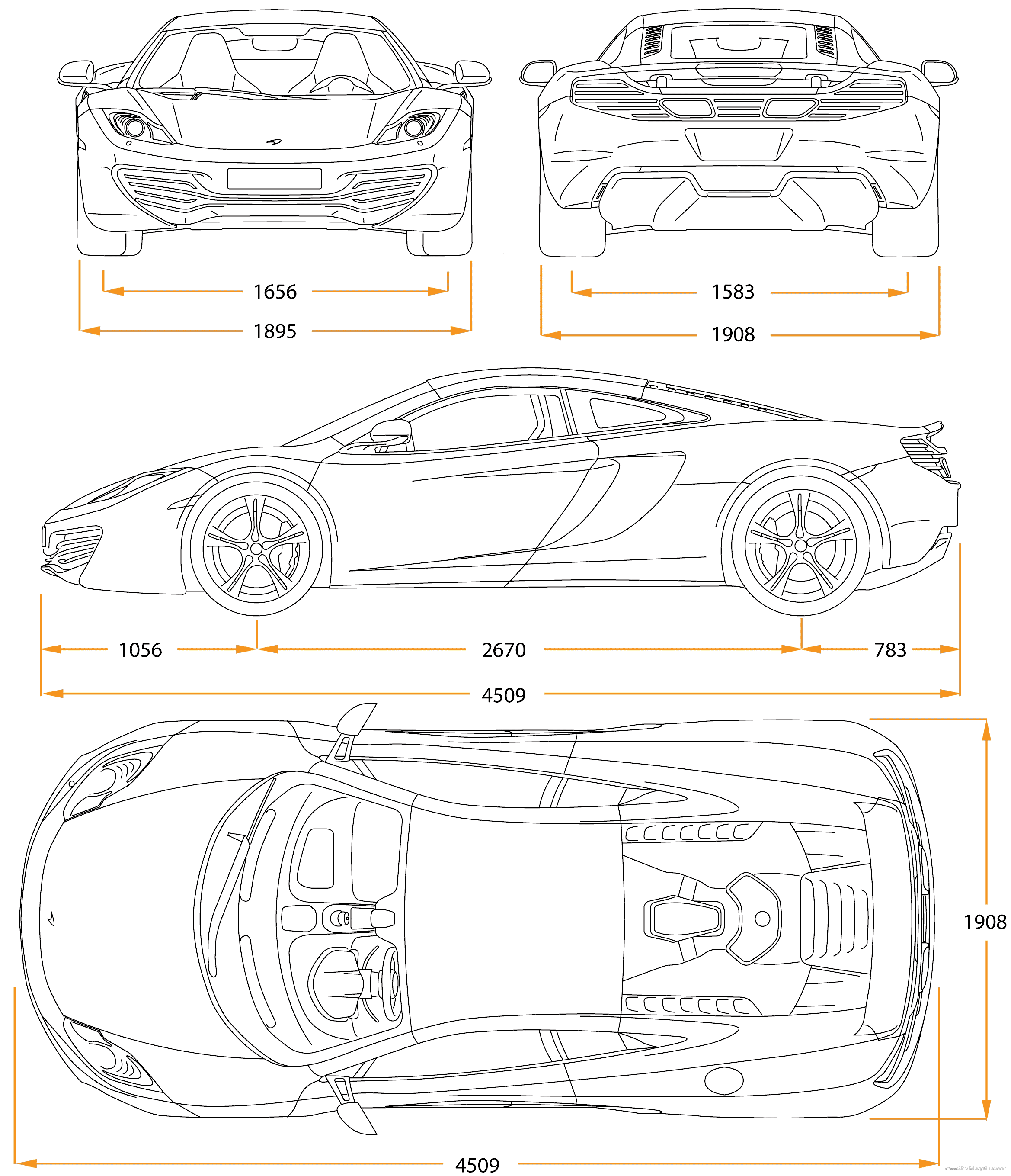 The Blueprints Com Blueprints Cars Mclaren Mclaren