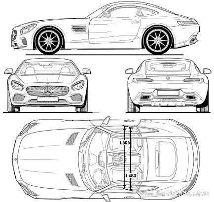 Blueprints cars mercedes benz mercedes benz amg gt 2014 mercedes benz amg gt 2014 malvernweather Choice Image