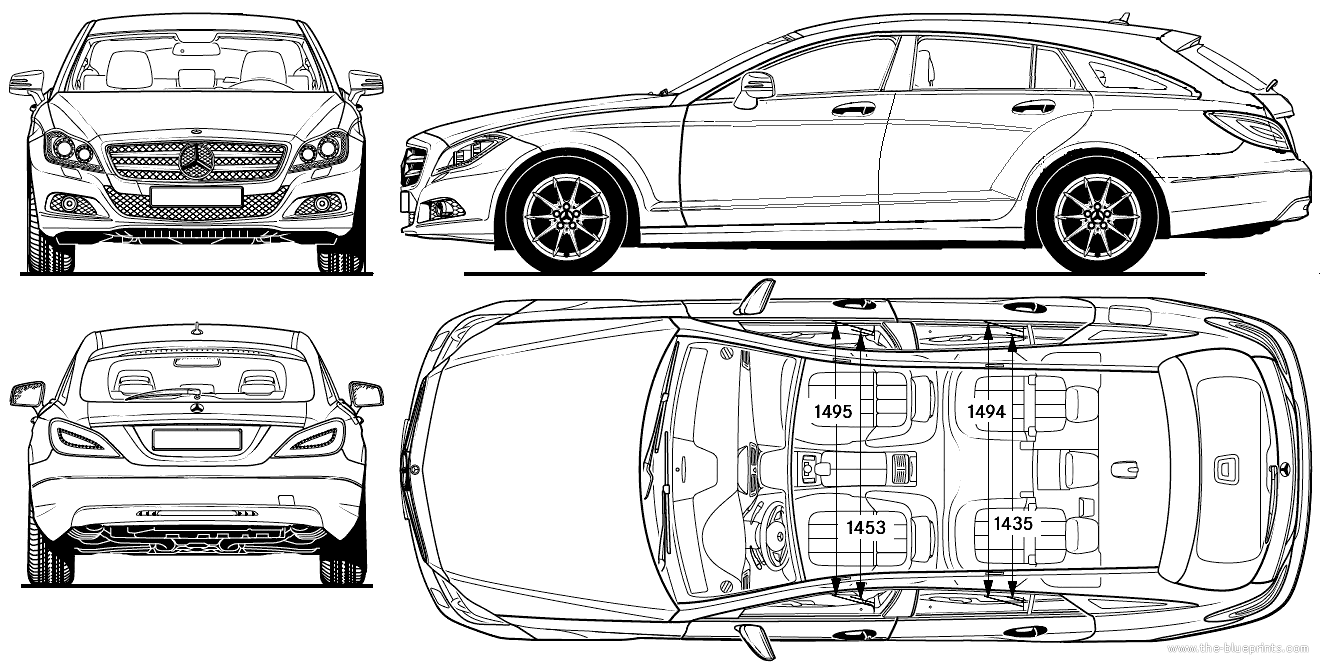 Blueprints cars mercedes benz mercedes benz cls shooting brake mercedes benz cls shooting brake 2013 malvernweather Image collections