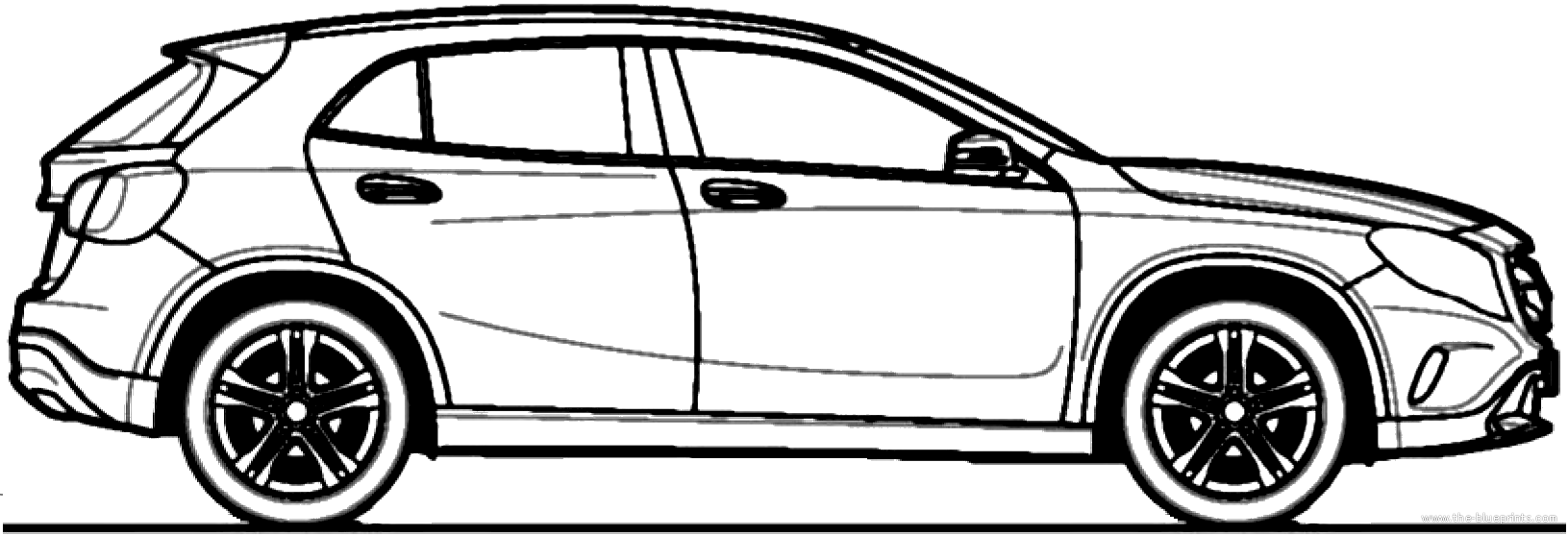 blueprints cars mercedes benz mercedes benz gla 220cdi 2014. Black Bedroom Furniture Sets. Home Design Ideas
