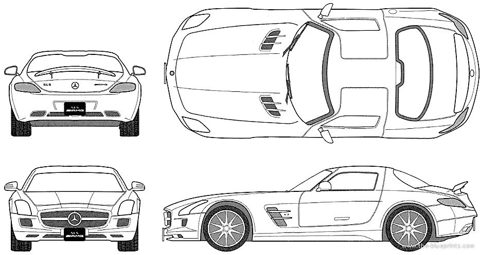 Blueprints cars mercedes benz mercedes benz sls amg 2010 mercedes benz sls amg 2010 malvernweather Choice Image