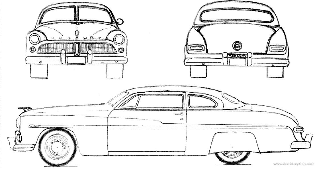 mercury car blueprints