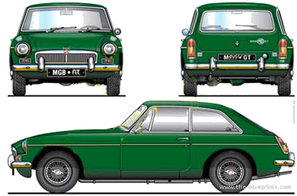 blueprints cars mg mgb gt. Black Bedroom Furniture Sets. Home Design Ideas