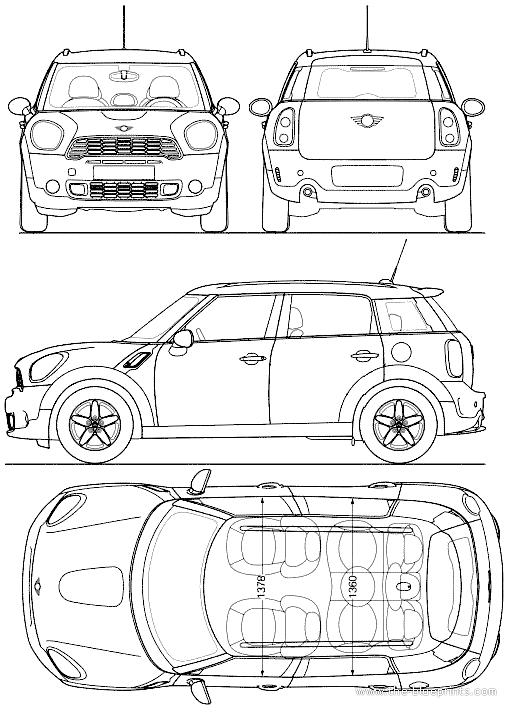 blueprints cars mini mini countryman 2014. Black Bedroom Furniture Sets. Home Design Ideas
