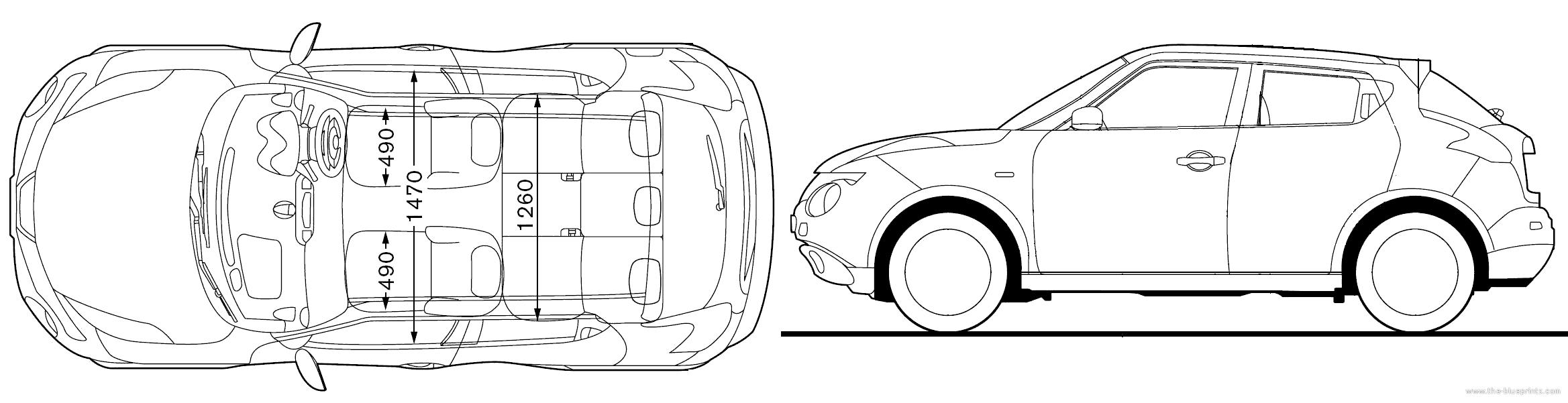 blueprints cars nissan nissan juke 2010. Black Bedroom Furniture Sets. Home Design Ideas
