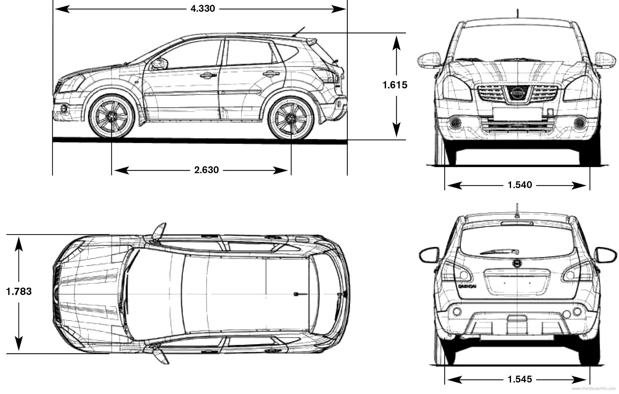 Nissan qashqai 2016 dimensions