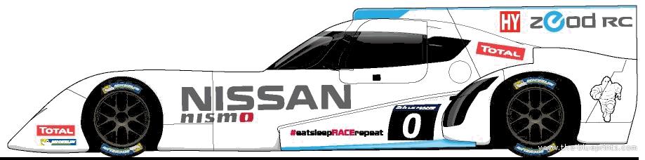 Blueprints Cars Nissan Nissan Zeod Rc Le Mans 2014