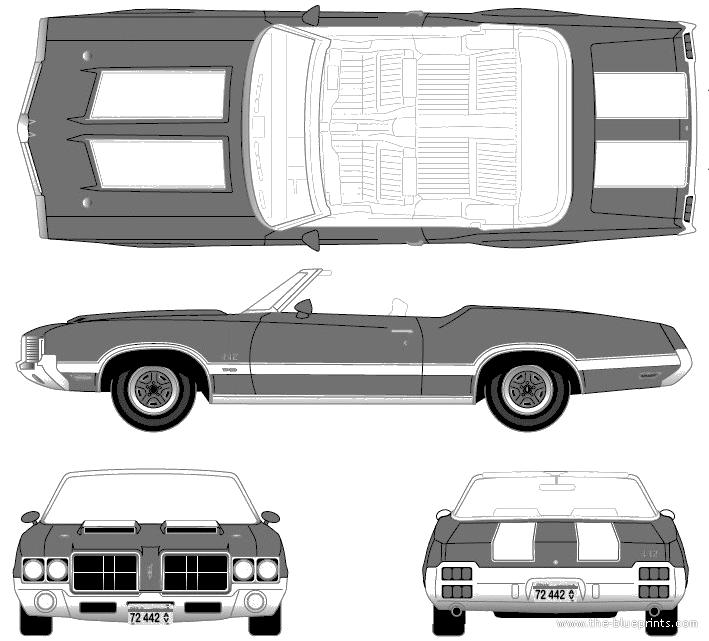 1970 Oldsmobile Cutlass Cutlass Supreme Convertible: Oldsmobile Cutlass 442 Convertible (1972