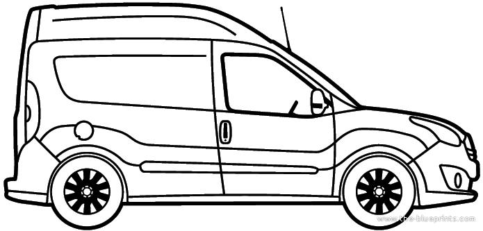 blueprints  u0026gt  cars  u0026gt  opel  u0026gt  opel combo van high roof  2012
