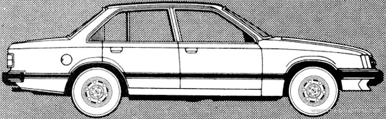 Blueprints cars opel opel commodore 25s berlina 1981 opel commodore 25s berlina 1981 malvernweather Images