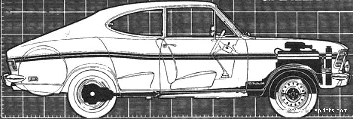 blueprints cars opel opel kadett b rallye 1 9 1968. Black Bedroom Furniture Sets. Home Design Ideas