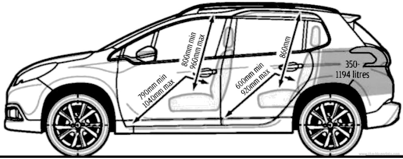 blueprints cars peugeot peugeot 2008. Black Bedroom Furniture Sets. Home Design Ideas