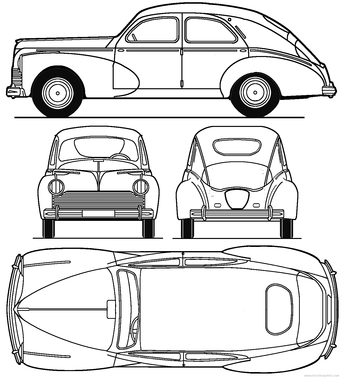 Awesome blueprints for cars gallery everything you need to know blueprints cars peugeot peugeot 203 malvernweather Choice Image