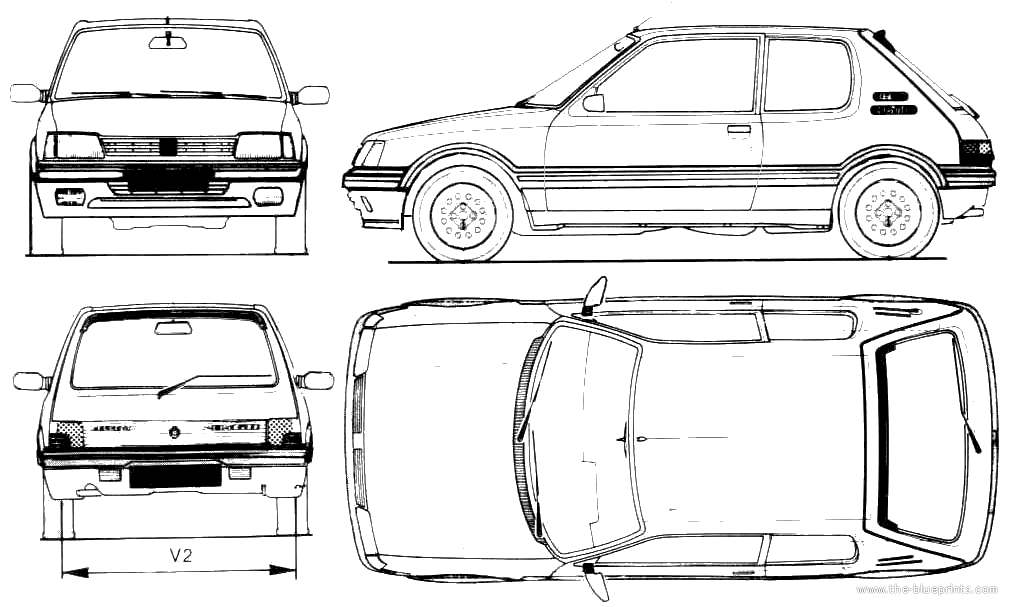 high resolution car blueprint