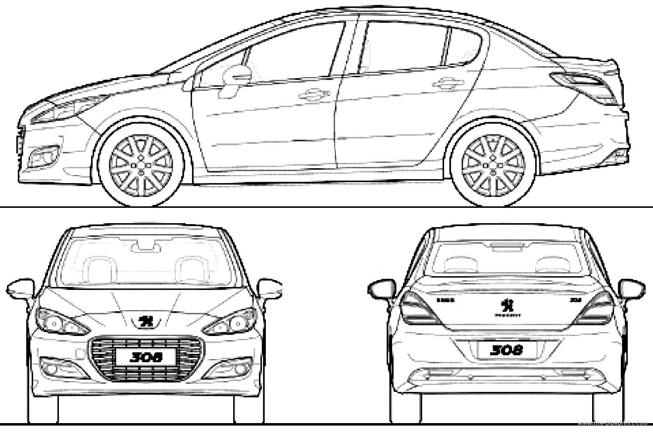 the blueprints cars peugeot peugeot 308 china 2012. Black Bedroom Furniture Sets. Home Design Ideas