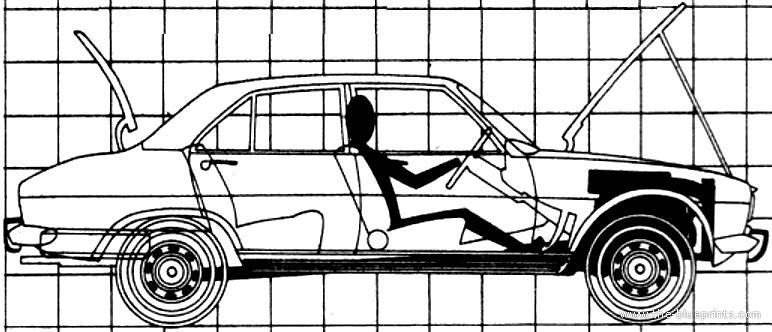 Blueprints Cars Peugeot Peugeot 504 1969