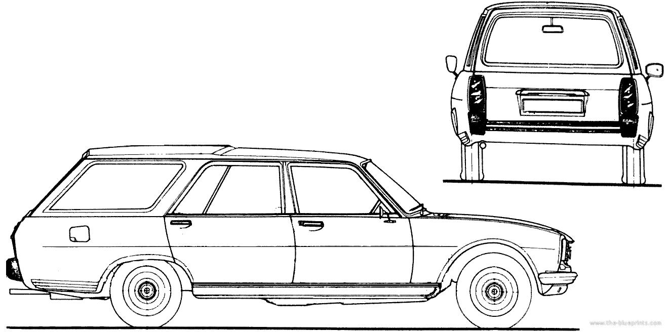 Blueprints Cars Peugeot Peugeot 504 Break 1980