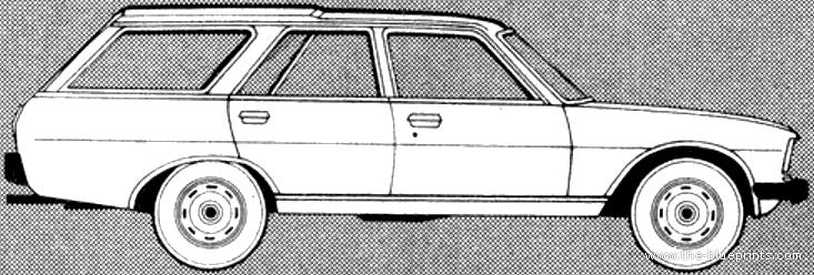 Blueprints Cars Peugeot Peugeot 504 Break 1981