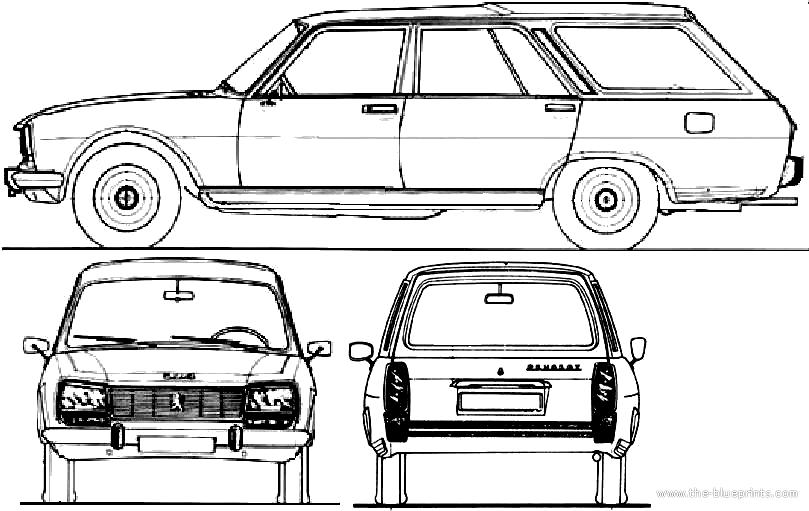 blueprints  u0026gt  cars  u0026gt  peugeot  u0026gt  peugeot 504 break