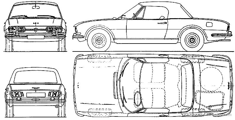 Blueprints Cars Peugeot Peugeot 504 Cabriolet 1980