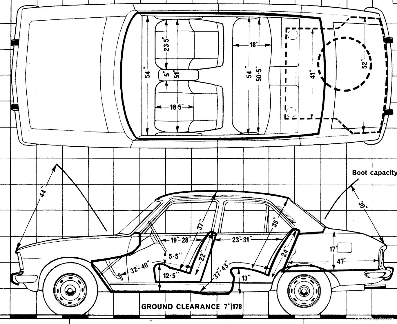 Blueprints Cars Peugeot Peugeot 504 L 1979