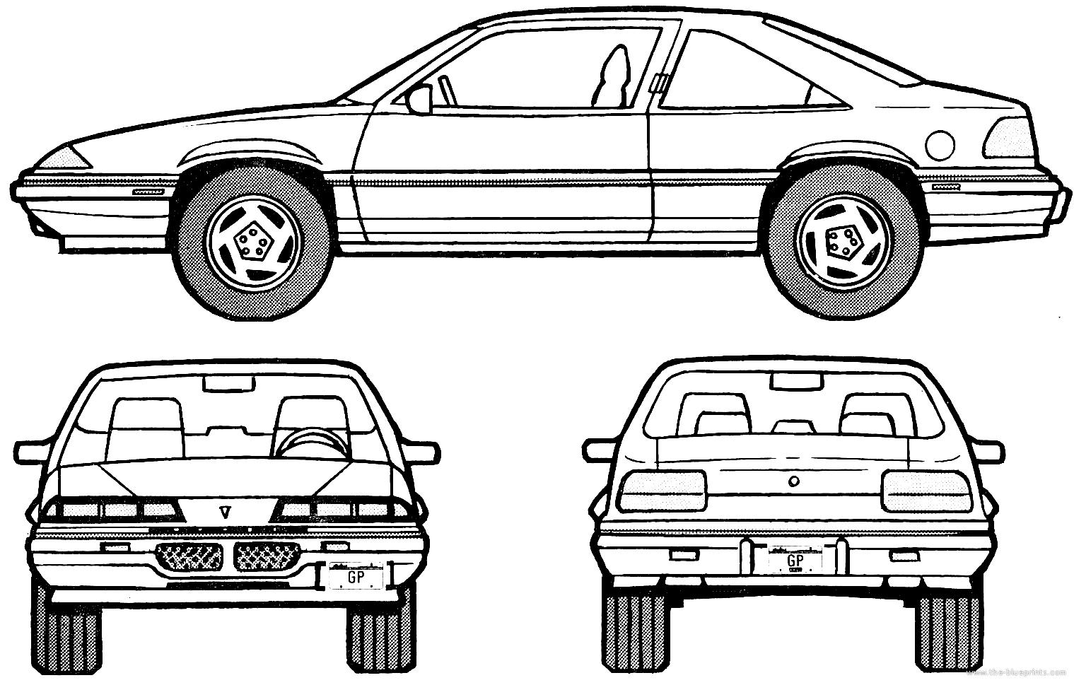 blueprints  u0026gt  cars  u0026gt  pontiac  u0026gt  pontiac grand prix se coupe