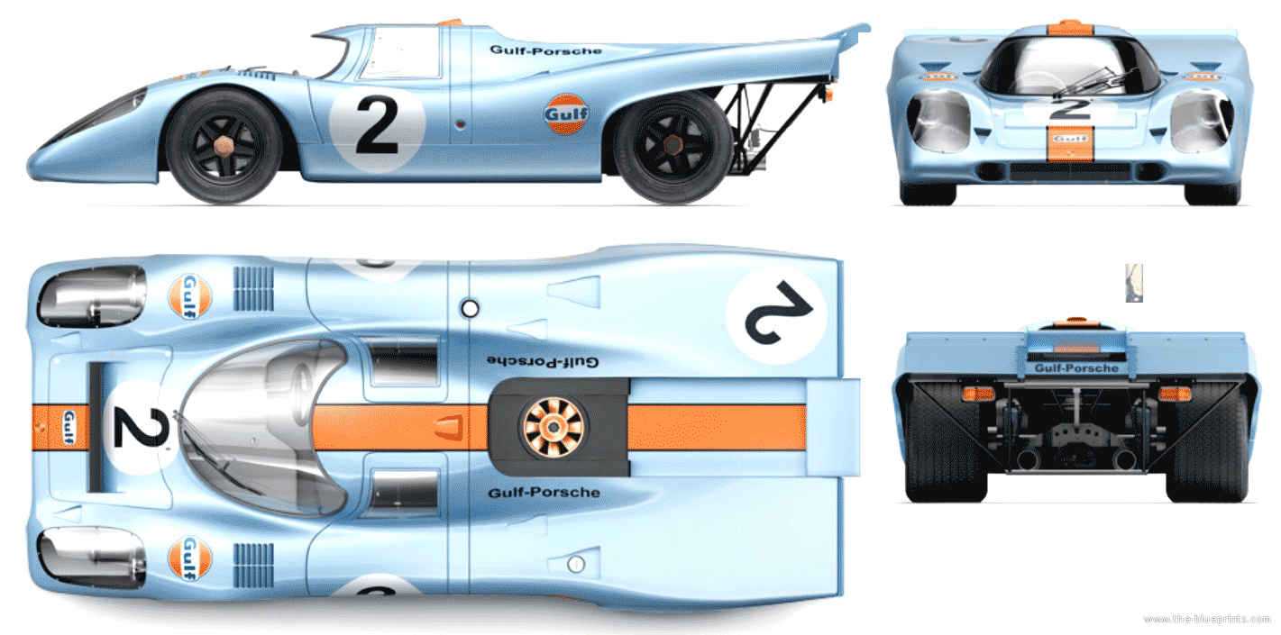 Original Porsche Race Car Blueprints