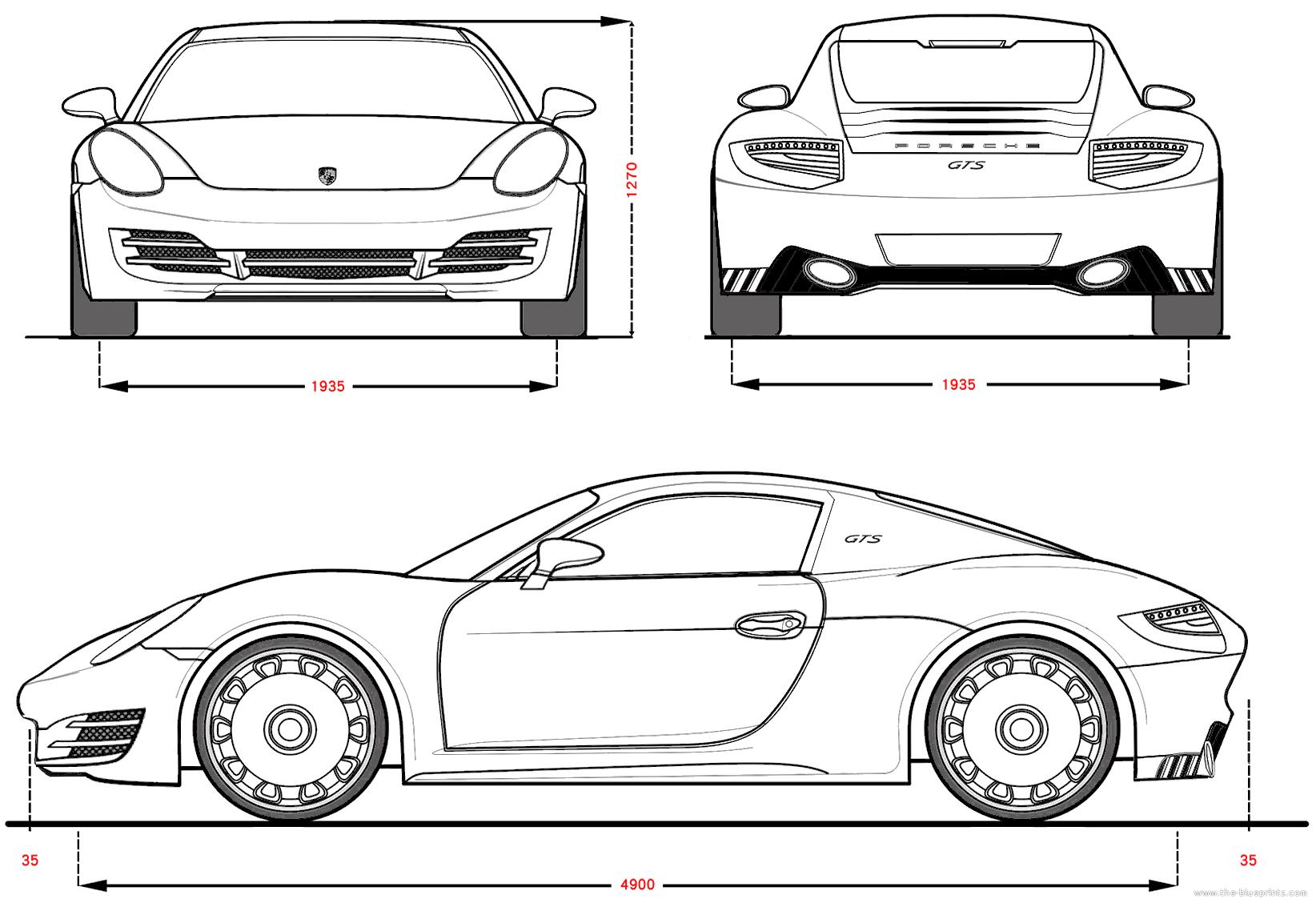 porsche-gts-concept.png (1644×1133) | BLUEPRINTS - CONCEPT CARS ...