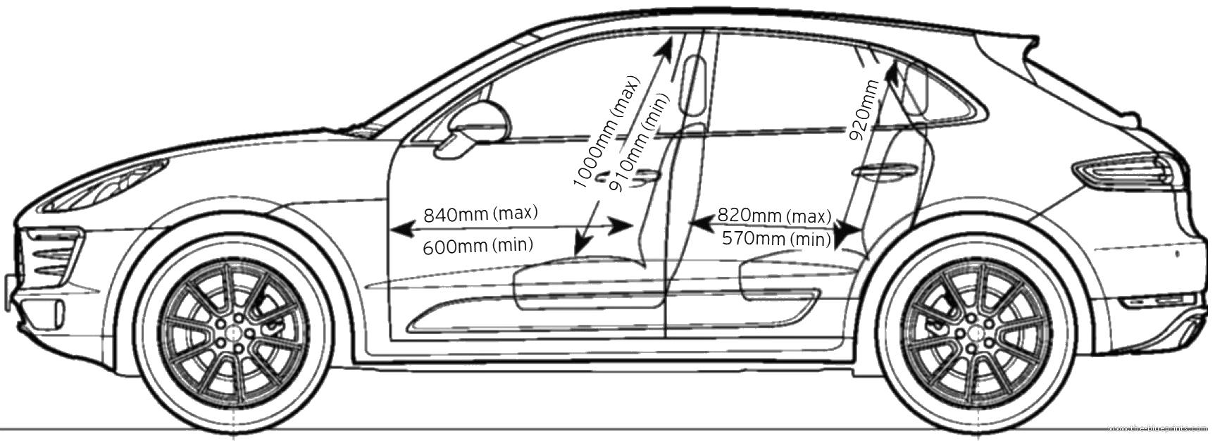 Blueprints > Cars > Porsche > Porsche Macan S (2014)