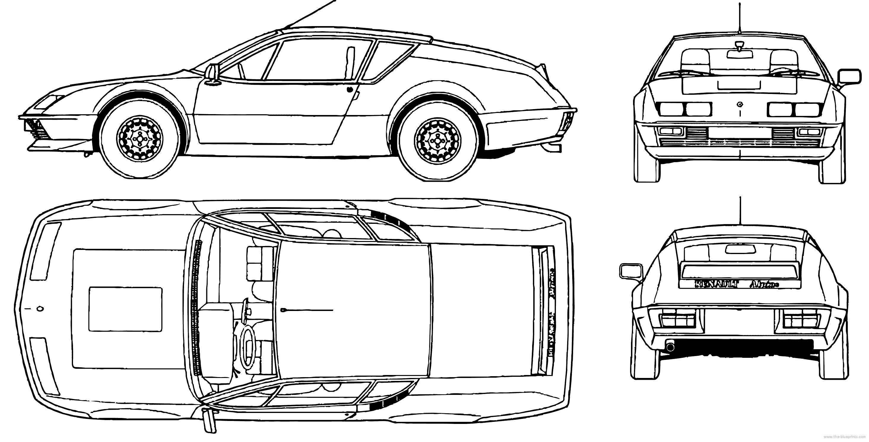 blueprints  u0026gt  cars  u0026gt  renault  u0026gt  renault alpine a310 v6  1977