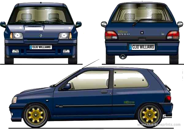 renault clio i williams group a 1993 racing cars. Black Bedroom Furniture Sets. Home Design Ideas