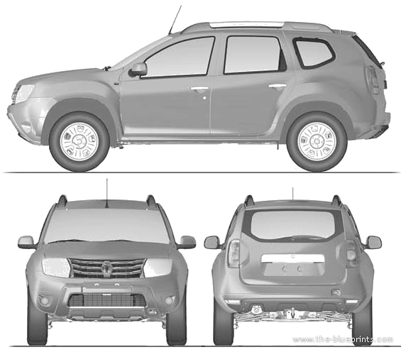 the blueprints cars renault renault duster 2012. Black Bedroom Furniture Sets. Home Design Ideas