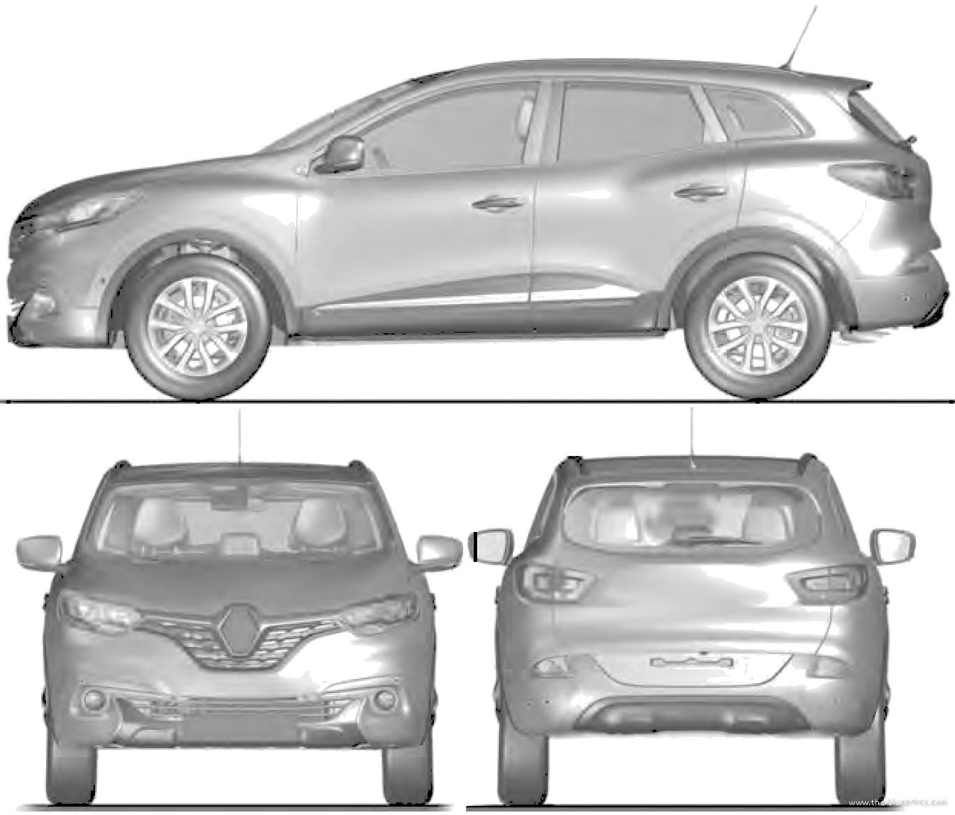 blueprints cars renault renault kadjar 2015. Black Bedroom Furniture Sets. Home Design Ideas