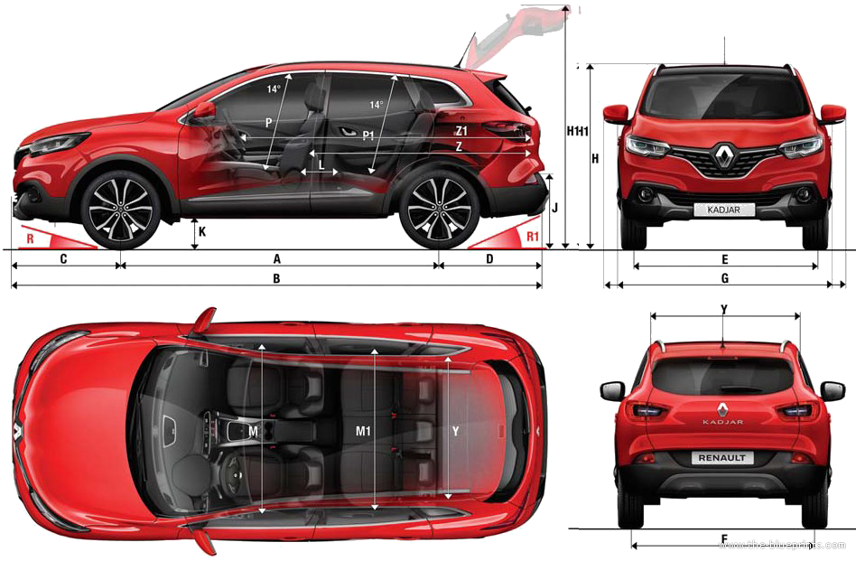 the blueprints cars renault renault kadjar 2015. Black Bedroom Furniture Sets. Home Design Ideas