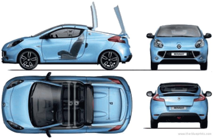 Blueprints > Cars > Renault > Renault Wind (2011)
