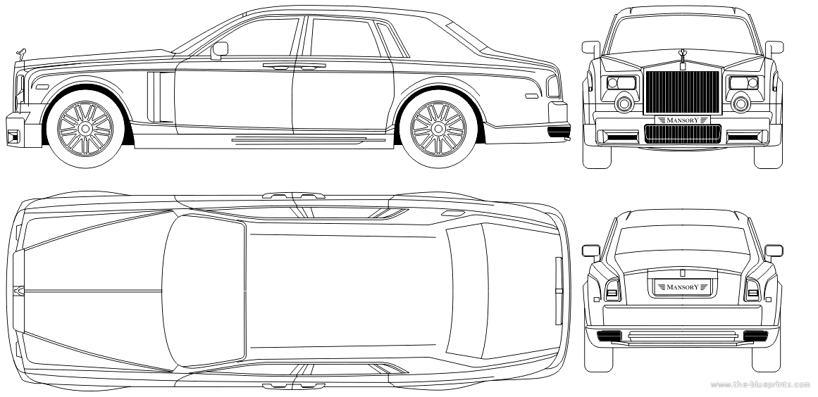 Blueprints cars rolls royce rolls royce phantom for What size paper are blueprints printed on