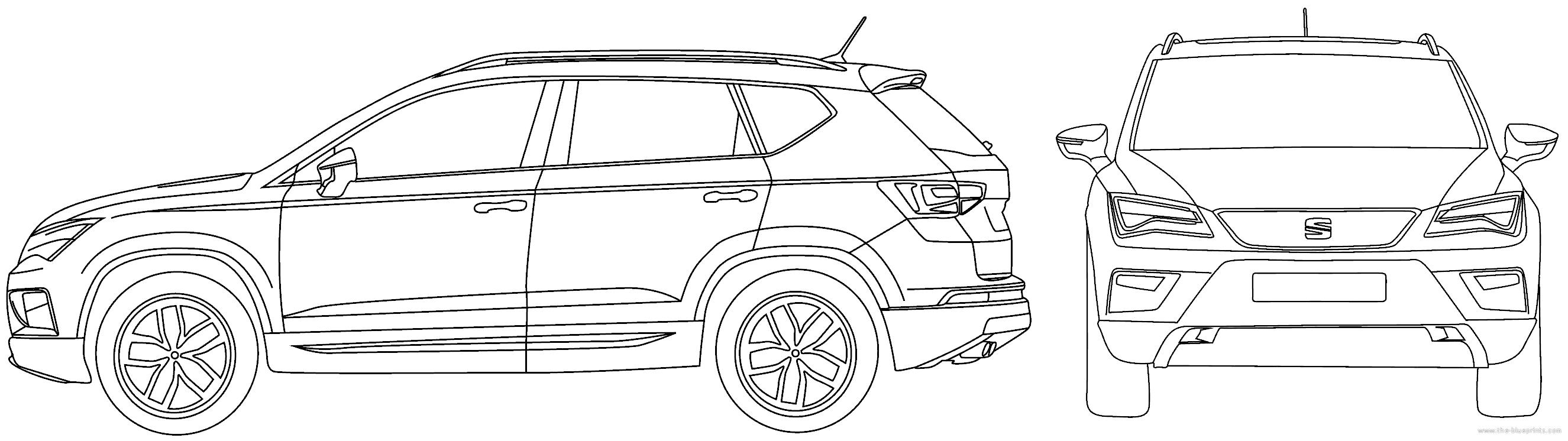 Blueprints cars seat seat ateca 2016 seat ateca 2016 malvernweather Images