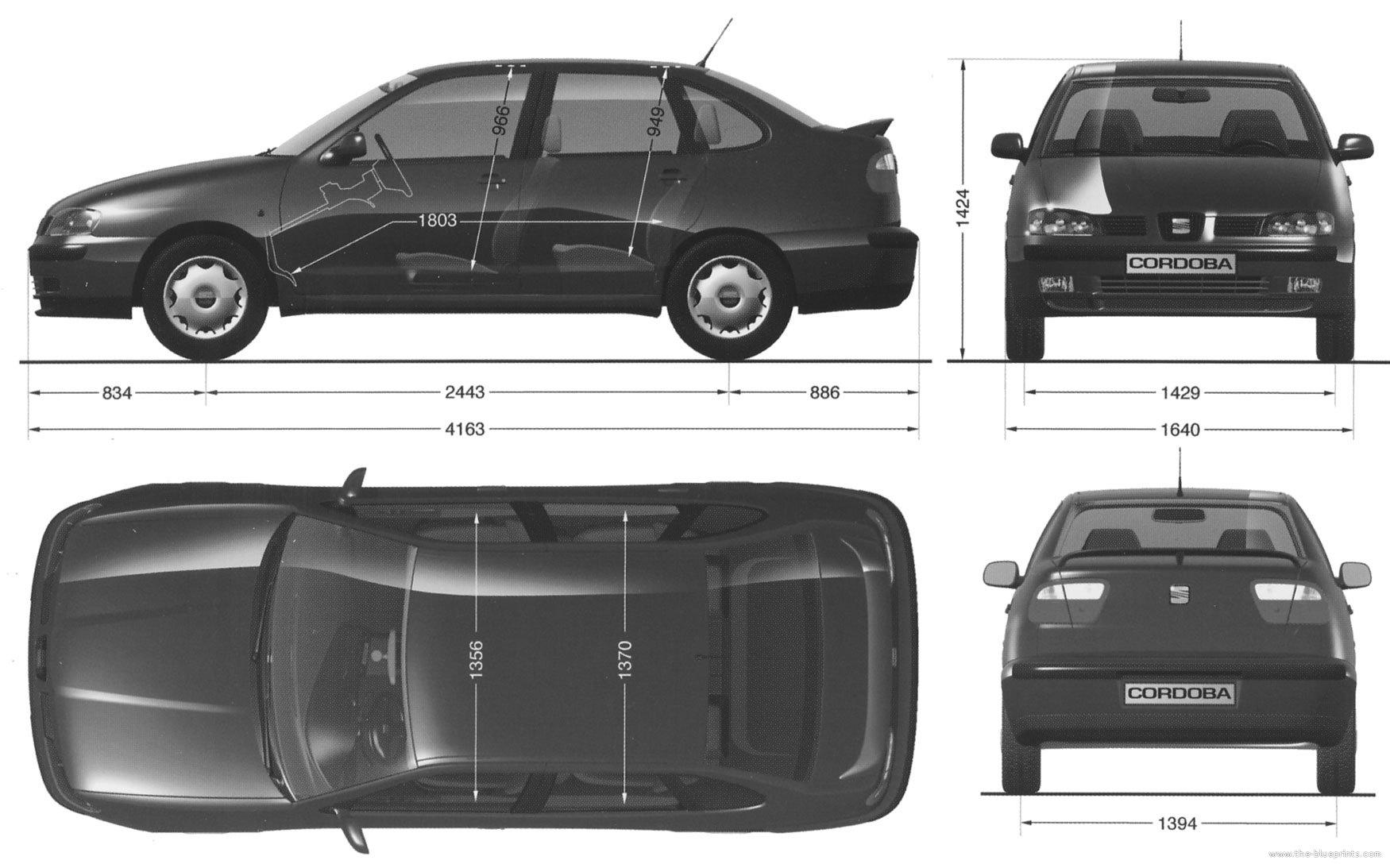 the blueprints cars seat seat cordoba. Black Bedroom Furniture Sets. Home Design Ideas