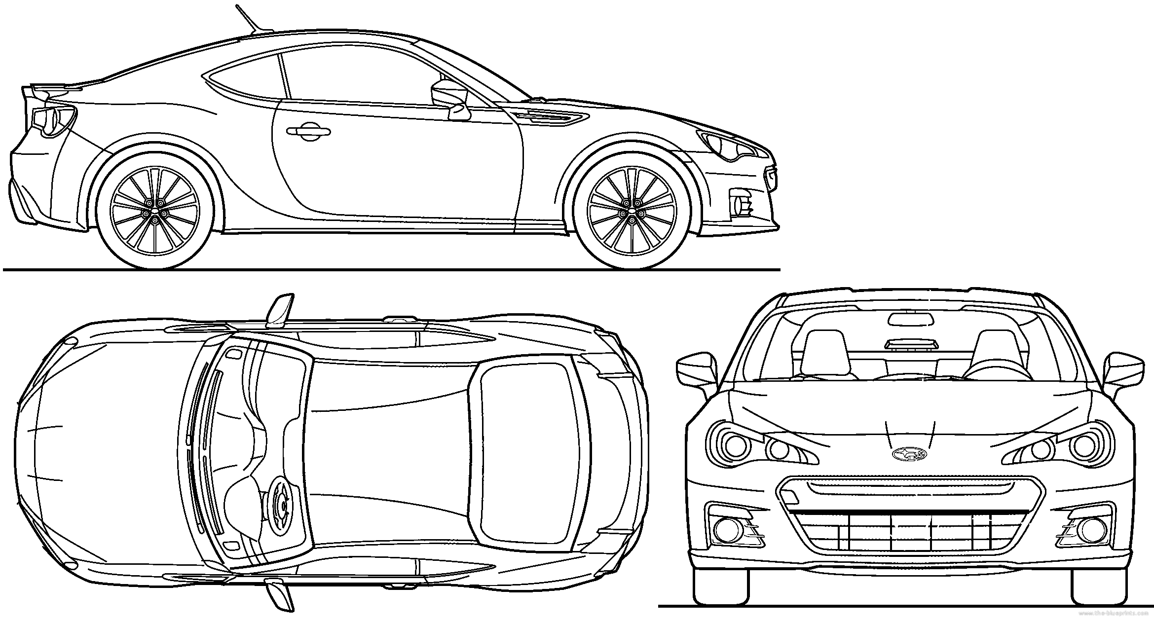 Blueprints > Cars > Subaru > Subaru BRZ (2013)