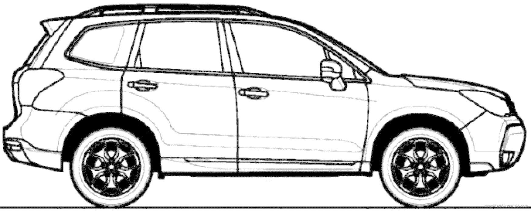 blueprints  u0026gt  cars  u0026gt  subaru  u0026gt  subaru forester  2013