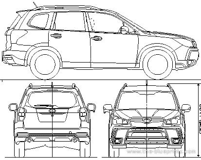Blueprints Cars Subaru Subaru Forester 2013
