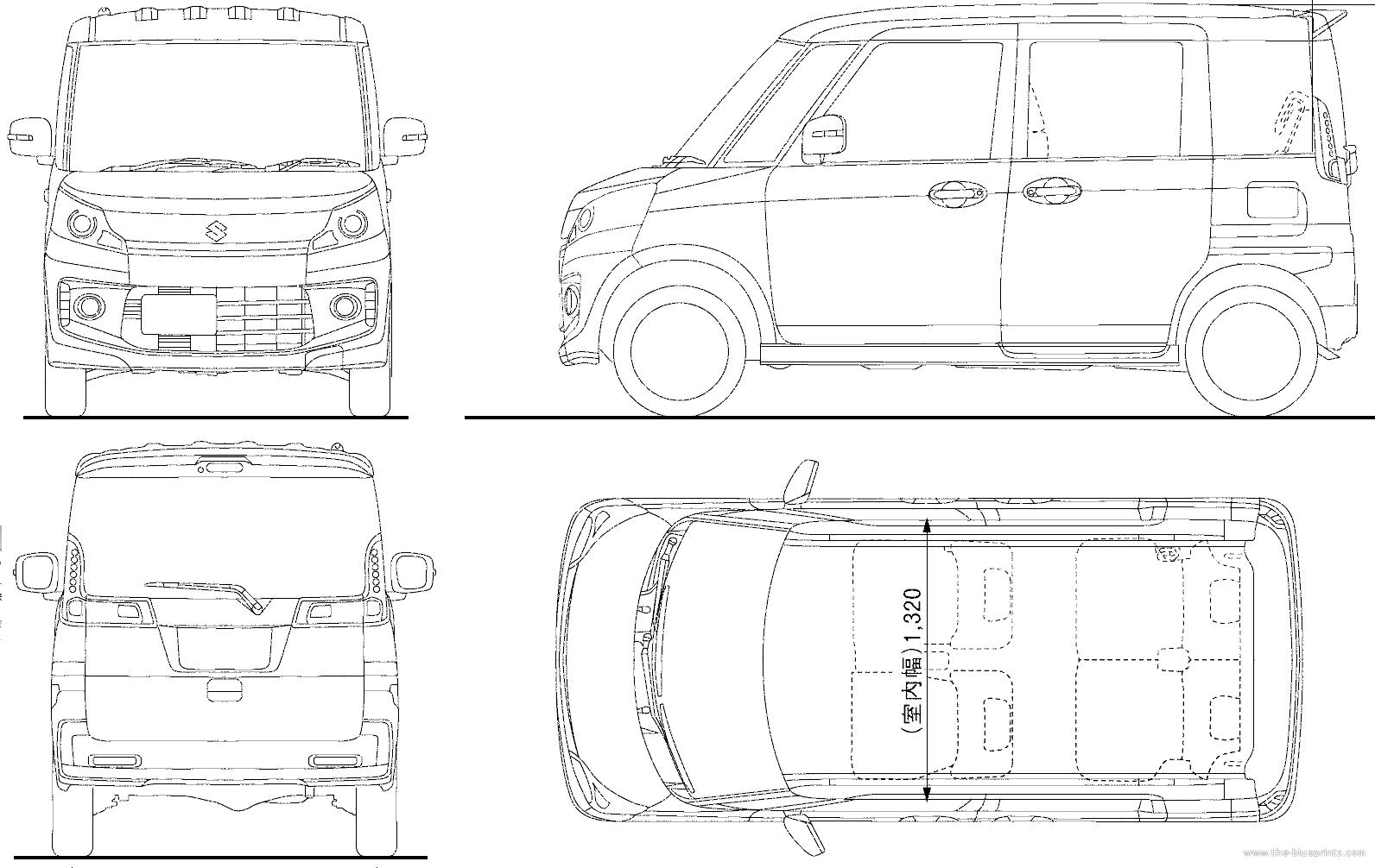Blueprints cars suzuki suzuki spacia custom 2014 for Custom blueprints