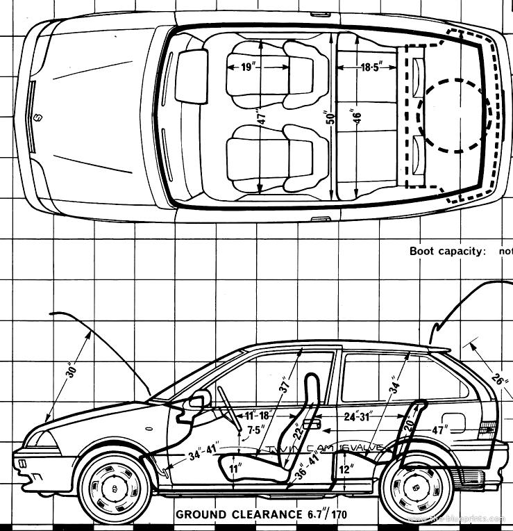 blueprints cars suzuki suzuki swift 1 3 gti 1989. Black Bedroom Furniture Sets. Home Design Ideas